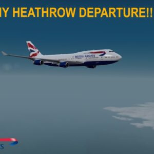 [P3Dv3.4] RAINY HEATHROW DEPARTURE (VATSIM)   Heathrow (EGLL) - Miami (KMIA)   BRITISH AIRWAYS