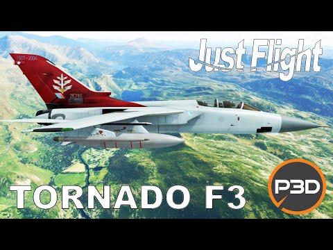 Just Flight Tornado F3 Preview | Mach Loop Flight | Prepar3d P3D V5