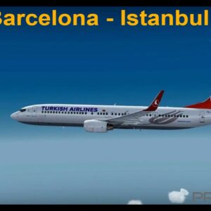 [P3Dv3.4] TK1854   Barcelona (LEBL) - Istanbul (LTBA)   Pmdg 737ngx   Turkish Airlines   VATSIM