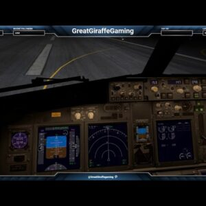 Landing at St. Martin at night
