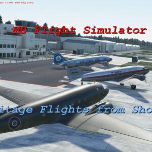 Microsoft Flight Simulator 2020 Weekend Heritage Flights from Shoreham Airport UK