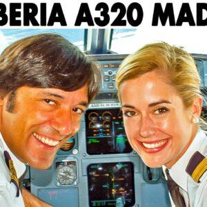 Madrid to Paris in the Cockpit of IBERIA Airbus A320 (2011)