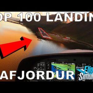 Microsoft Flight Simulator 2020 | Landing Challenge - Isafjordur | Top 100