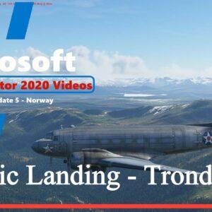 Microsoft Flight Simulator 2020 World Update 5 - Norway - Dakota Scenic Approach to Trondhiem
