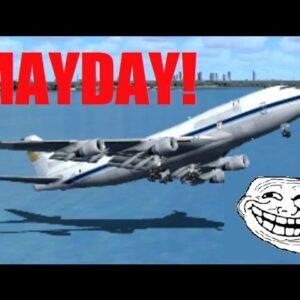 FSX Multiplayer Trolling: Boeing 747 Pilot Fails His Checkride (Crash at JFK)