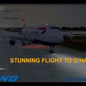 [P3Dv3.4] STUNNING FLIGHT TO O'HARE PMDG 747-400v3 (VATSIM) | (EGKK) - (KORD) | BRITISH AIRWAYS\2017