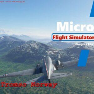 Microsoft Flight Simulator 2020 - Douglas C47 Skytrain - Landing Tromso - Wing View and Cockpit View