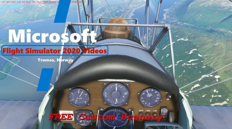 Microsoft Flight Simulator 2020 Tromso Norway - Gateway to the Arctic Circle - Free Custom Scenery