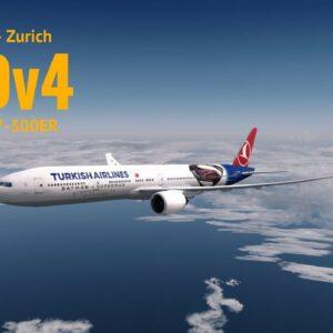 [P3Dv4] Istanbul (LTBA) - Zurich (LSZH) | Pmdg 777-300ER | TURKISH AIRLINES | VATSIM
