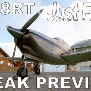 Just Flight PA-28R TURBO Arrow | Preview Flight | Microsoft Flight Simulator