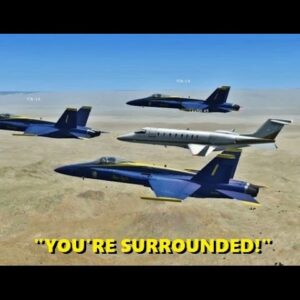 Intercepting Random AIRLINERS in Flight Simulator X (Multiplayer Trolling)