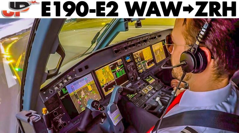 Warsaw to Zurich in Cockpit of the new Helvetic Embraer E190-E2
