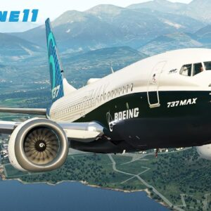 X-Plane 11 | Boeing 737 MAX | Cold Start & Takeoff From Lugano Airport