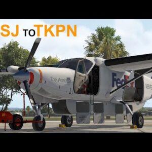 X-Plane 11 | Puerto Rico Cargo Hop TJSJ To TKPN | Carenado C208b