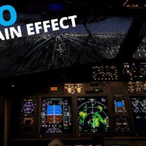 X-Plane 11 | Zibo Mod's Impressive Ski Rain Effect