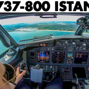 737-800 Landing at New ISTANBUL Airport | Briefing & Full Approach