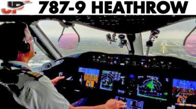 BOEING 787-9 Wet Runway landing at London Heathrow