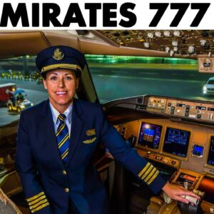 EMIRATES Boeing 777 Takeoff from Mexico City + Safety Briefing