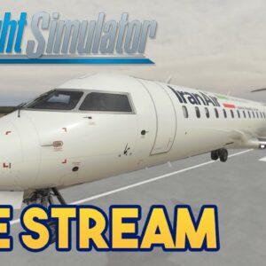 Microsoft Flight Simulator 2020 - IRAN to IRAQ CRJ MILK RUN