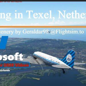 Microsoft Flight Simulator 2020 Dakota Squadron Landing in Texel Netherlands