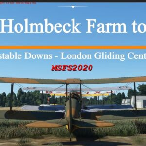 Microsoft Flight Simulator 2020  Holmbeck Farm to Dunstable Downs - the Lion-Board Approach! - DH82A