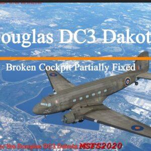 Microsoft Flight Simulator 2020 Sim Update 5 Broken Cockpit Partially Fixed -  Douglas DC3 Dakota