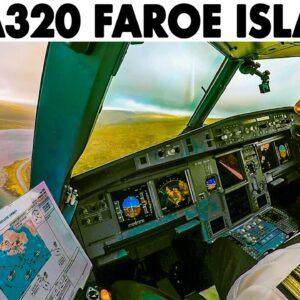 Airbus A320 RNAV Approach into Vagar Faroe Islands🇫🇴