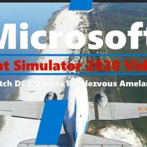Microsoft Flight Simulator 2020 Dutch Dakota DC3 Historic Flight - Rendezvous on Ameland