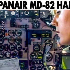 SPANAIR🇪🇸 MD-82 Cockpit Flight Madrid-Hamburg-Madrid (2001)