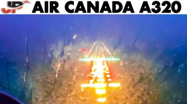 BAD WEATHER Landing in St John's | AIR CANADA Airbus A319