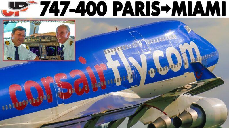 BOEING 747-400 Paris to Miami | Full Flight in Cockpit (2010)