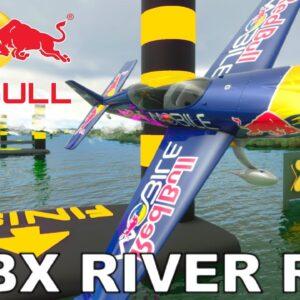 """Red Bull"" Extra 330 LT | Orbx Brisbane River Run | Microsoft Flight Simulator"