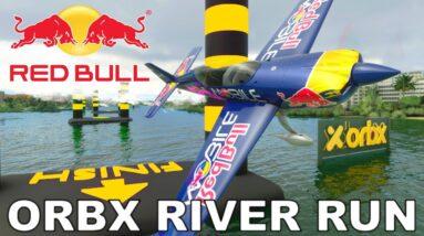 """Red Bull"" Extra 330 LT   Orbx Brisbane River Run   Microsoft Flight Simulator"