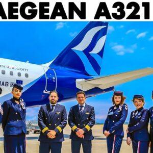 AEGEAN🇬🇷 Airbus A321NEO Athens Takeoff + Walkaround