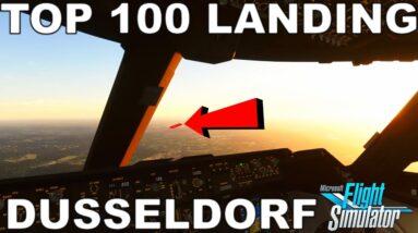 Microsoft Flight Simulator 2020 | Landing Challenge - Dusseldorf | Top 100