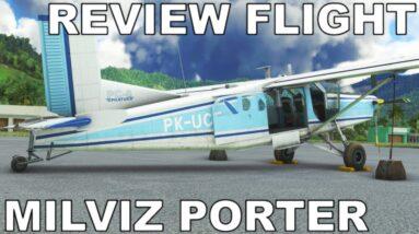MILVIZ PC-6 Porter   Full Review   Cargo Run   Microsoft Flight Simulator