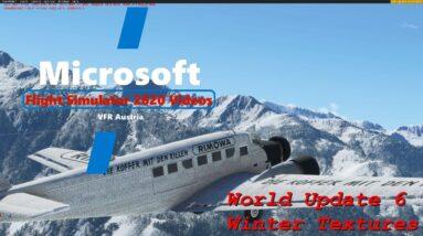 Microsoft Flight Simulator 2020 World Update 6 Winter Textures | Wings to Innsbruck  | Junkers JU52