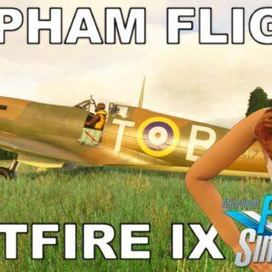 Burning Blue Design Popham | FlyingIron Simulations Spitfire MKIX | Microsoft Flight Simulator