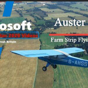 Microsoft Flight Simulator 2020 Farm Strip  Flying in the UK - Auster J1N British Vintage Airplane