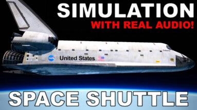 Space Shuttle Approach and Landing Simulation | FULL AUDIO | X-Plane 11