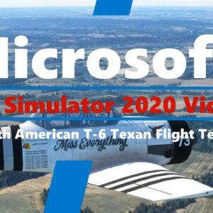 Microsoft Flight Simulator 2020 North American Aviation T-6 Texan | Flight Test | cockpit