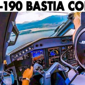 TUIfly Embraer E-190 Landing at Bastia Corsica🇫🇷