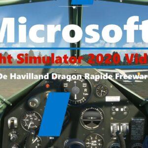 Microsoft Flight Simulator 2020  Native De Havilland Dragon Rapide - Freeware -  working cockpit