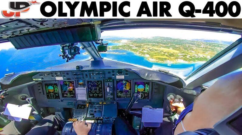OLYMPIC AIR🇬🇷 Q-400 Scenic Landing at Kefalonia Airport