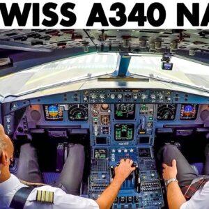 SWISS🇨🇭 Airbus A340-300 LOW VISIBILITY Landing at Tokyo Narita🇯🇵