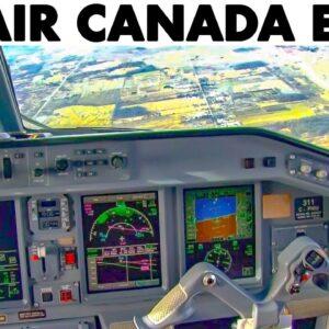AIR CANADA🇨🇦 E-190 landing at Toronto + Fantastic Airport Views from the air