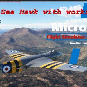 Microsoft Flight Simulator 2020  - Another Free Jet  -  The Hawker Sea Hawk  - Native with cockpit