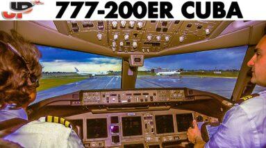 AIR EUROPE🇮🇹 Boeing 777-200ER Bad Weater Flight in Cuba🇨🇺 (2000)