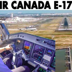 AIR CANADA🇨🇦 E-175 Mount Vernon Visual for Runway 01 in Washington🇺🇸