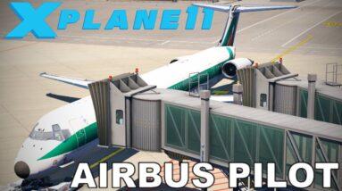 REAL AIRBUS PILOT   MD82   X-Plane 11   Full Flight   Rome - Sicily